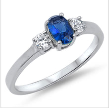 Oval CZ colour Stone with Single Round cut clear CZ