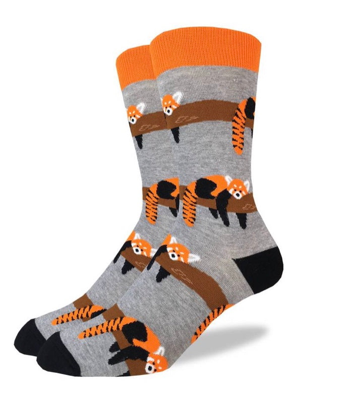 Men's Red Panda Crew Socks