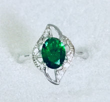 Oval Cz stone in Marquise set Ring