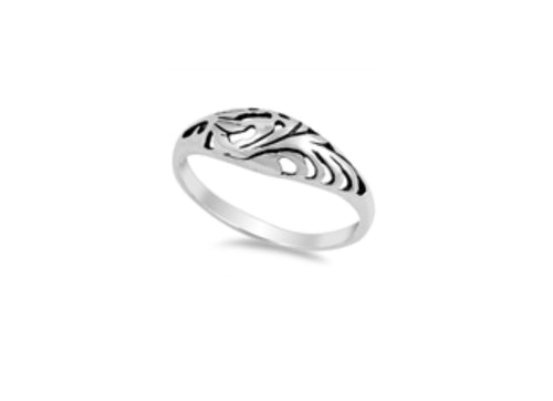 Ornate Round Silver Ring