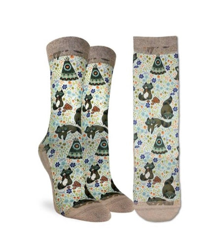 Women's Happy Raccoons Active Fit Socks