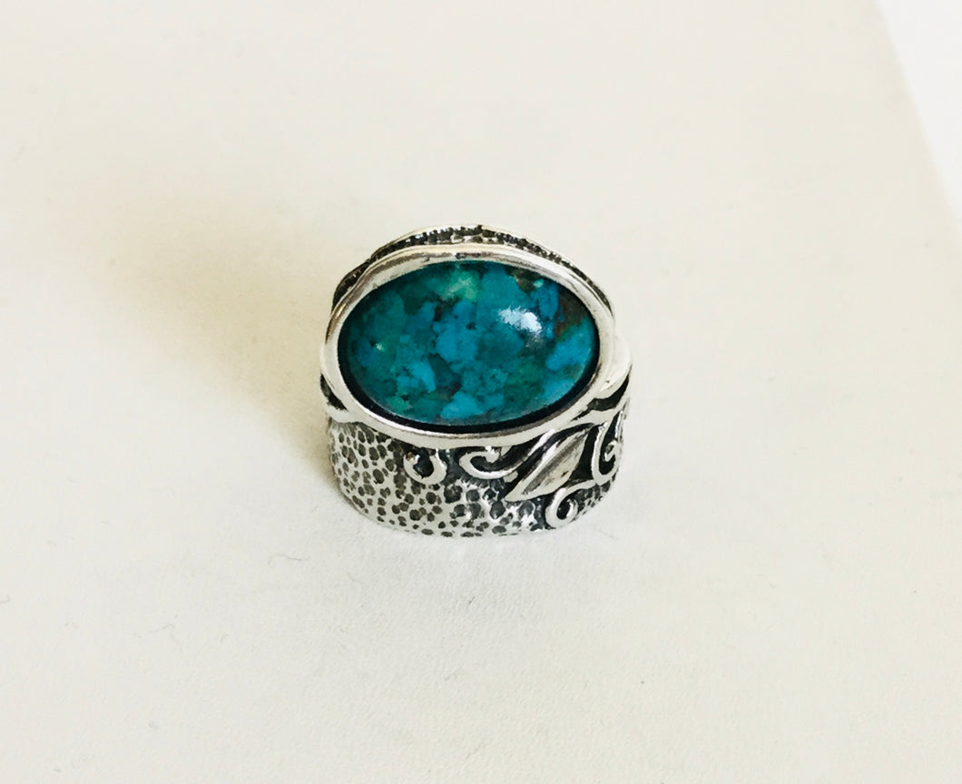 Sterling silver Unique Turquoise Ring