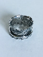 Sterling silver cut out Spinner Ring