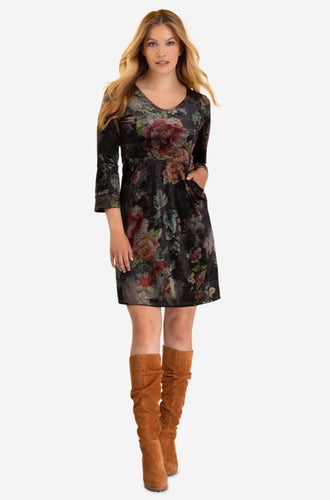 Olive Floral Print Burn out Dress / Tunic is a perfect cut and fit to any body shape with great pockets. Pair this dress with a knee high boot or leggings and a short booty on those chilly days. Shop deserve