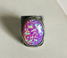 Sterling silver Oval fire Opal Rings