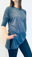 Denim Blue Raglan Sleeve Top
