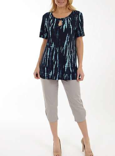 Short Sleeve Tunic Cut Out Neck line