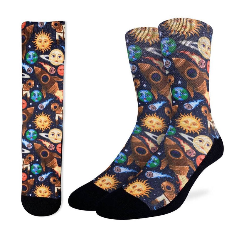 Men's Stars and Steampunk Active Fit Socks
