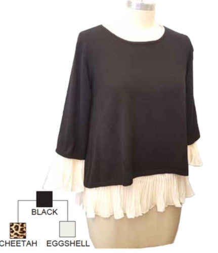 3 Piece Knit Top with Blouse options