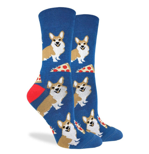 Men's Corgi Pizza Crew Socks