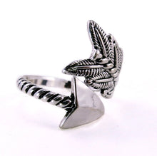 Arrow wrap Silver Adjustable Ring