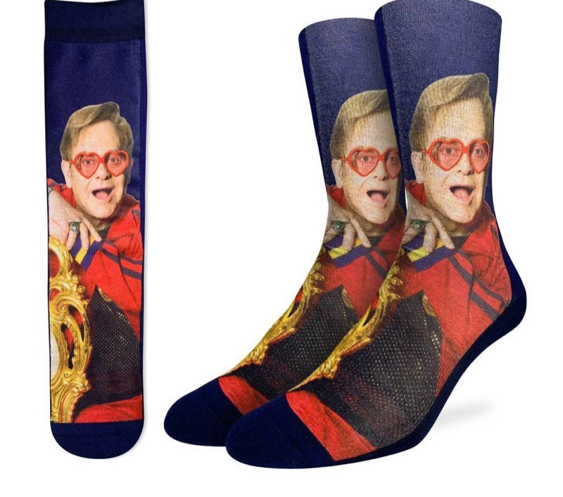Men's Active Fit Elton John on a chair socks