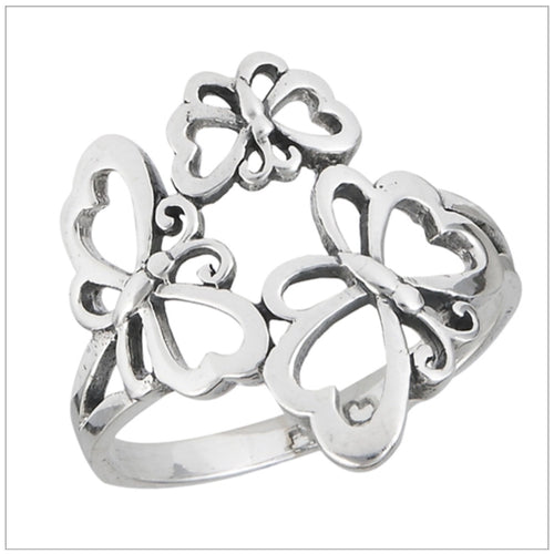 Three Butterfly Ring
