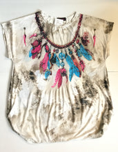 Feather Necklace Embellished FunTop