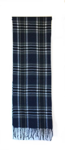 Men's Navy/ Yellow Plaid scarf