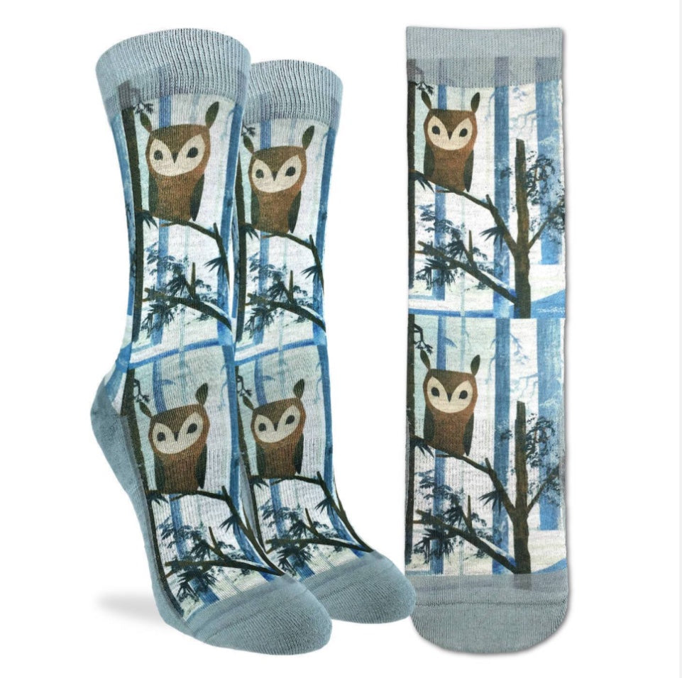 Women's Owl Active Fit Fun Sock