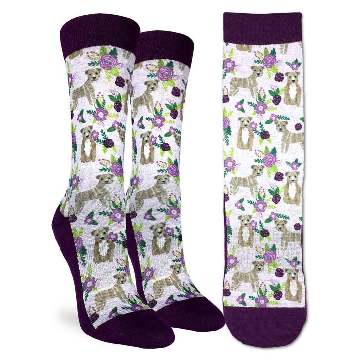 Women's Floral Pit Bull Active Fit Socks