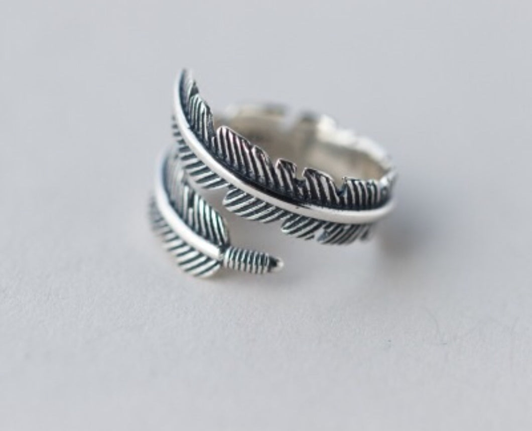 Full Wrap adjustable Feather Ring