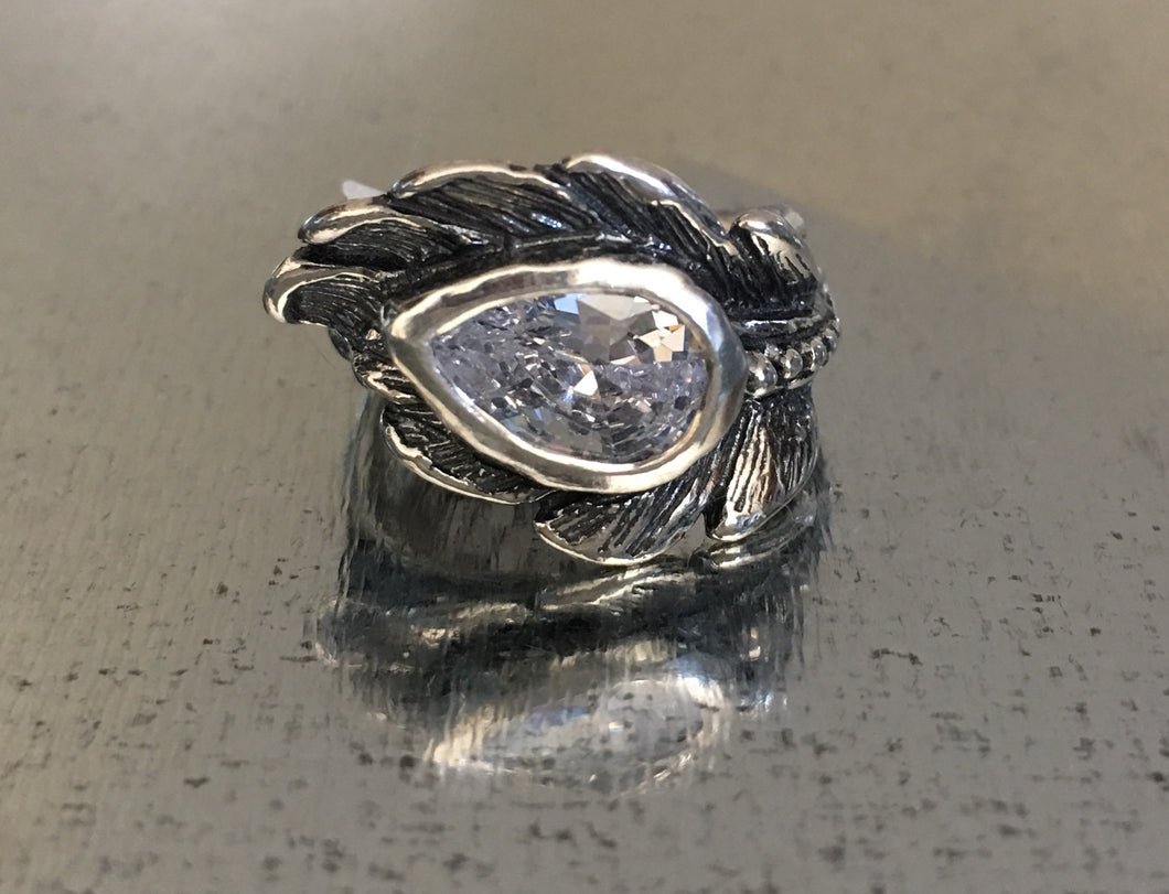 Clear Crystal Fleather Ring
