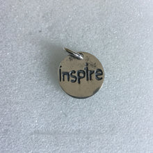 "2 sided pendant "" Inspire, and a buttlerfly"""
