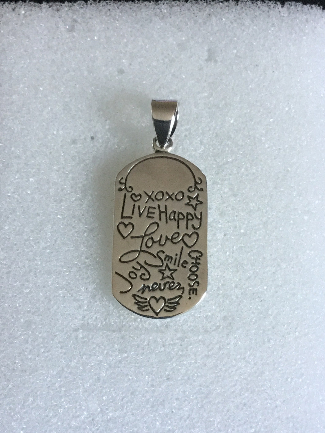 Live, Happy,Joy pendant