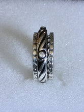 Black ceramic with clear Cubic Zirconia Spinner ring