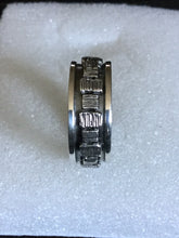 Oxidized Sterling Silver Spinner ring