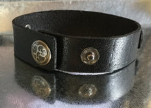 "Large leather "" Diesel "" cuff with snap closure"