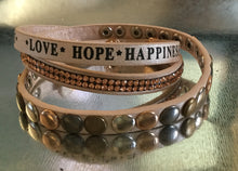 Hope, Happiness wrap bracelet