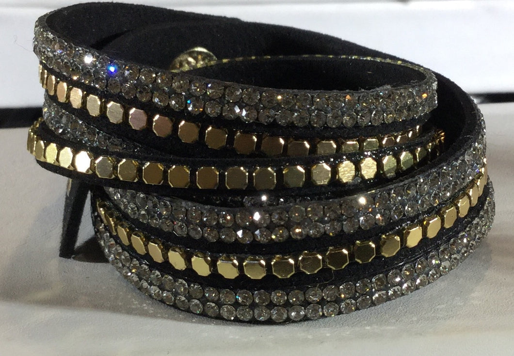 Gold Studded Wrap bracelet