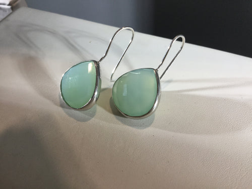 Chalcedony Tear Drop Earring