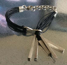 Italian Leather and Silver Bracelet