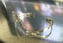 Wave Sterling Silver Cuff Hammered Finish