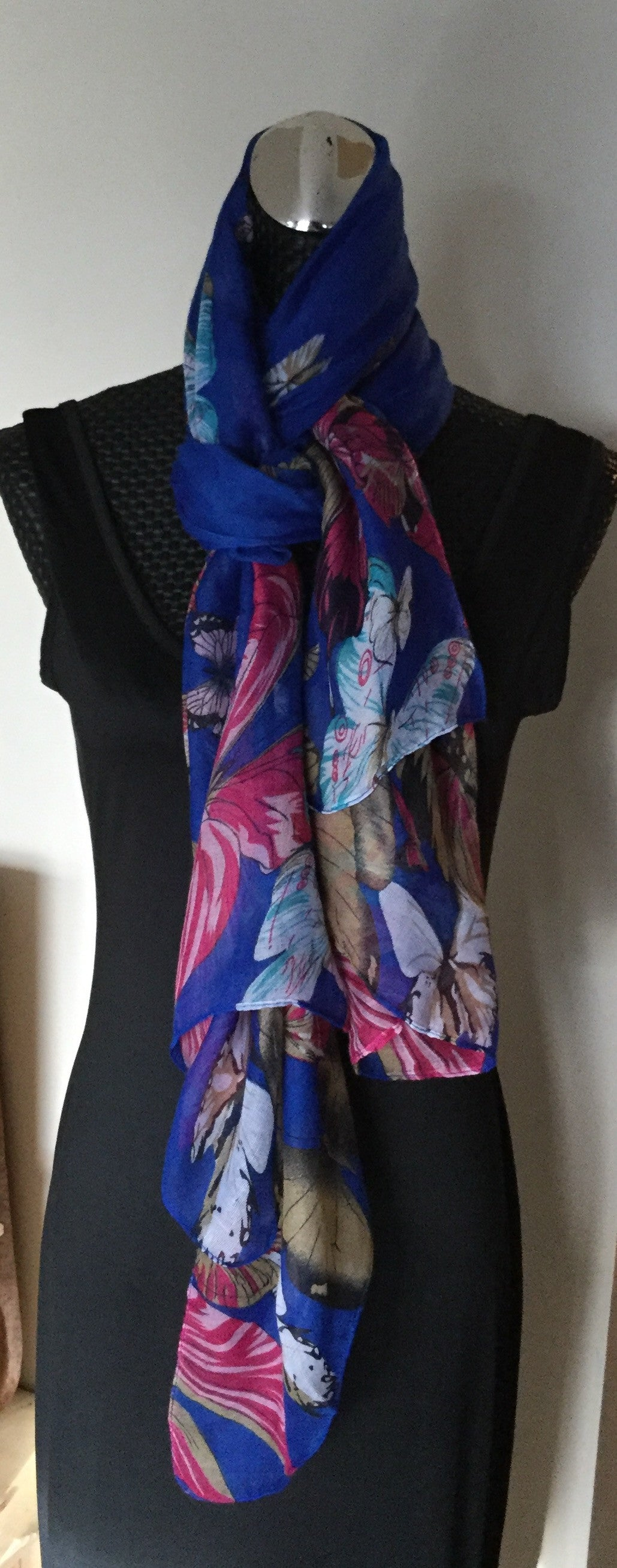 Butterfly Print Summer Scarves