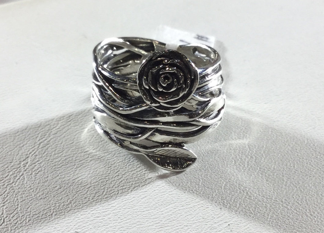 Sterling Silver Rose Knot Ring