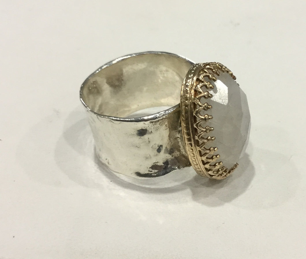 Sterling silver with Moonstone ring