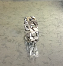 Sterling Silver Chain link Ring wide