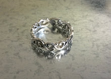 Sterling Silver Ornate Wave Ring