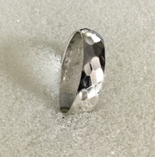 Sterling Silver Hammered Wide Band