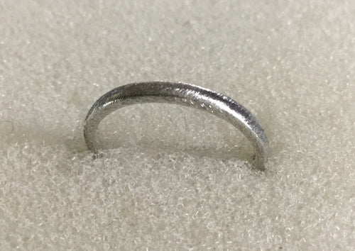 Narrow Sterling Silver Brush finish Ring