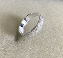Etched Sterling Silver Band