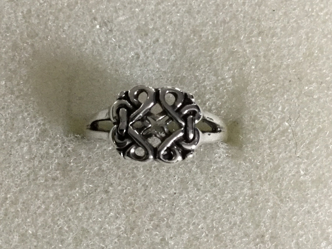Sterling Silver Square Knot Ring