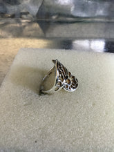 Filigree Wave cut out Silver Ring