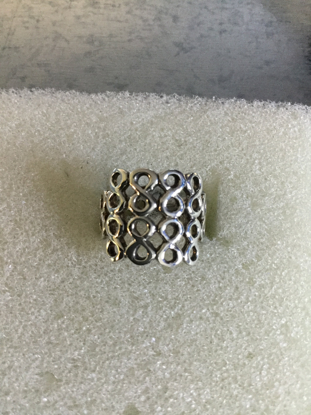 Wide Figure 8 Sterling Silver Ring