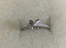 Tiny bow Silver Ring CZ ring
