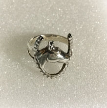 Horse head with Horse shoe Ring