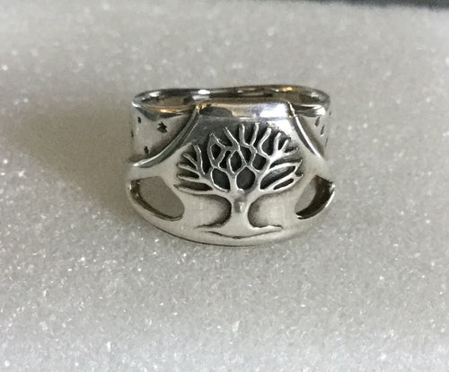 Wide Tree of Life Ring