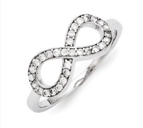 CZ Infinity Silver Ring
