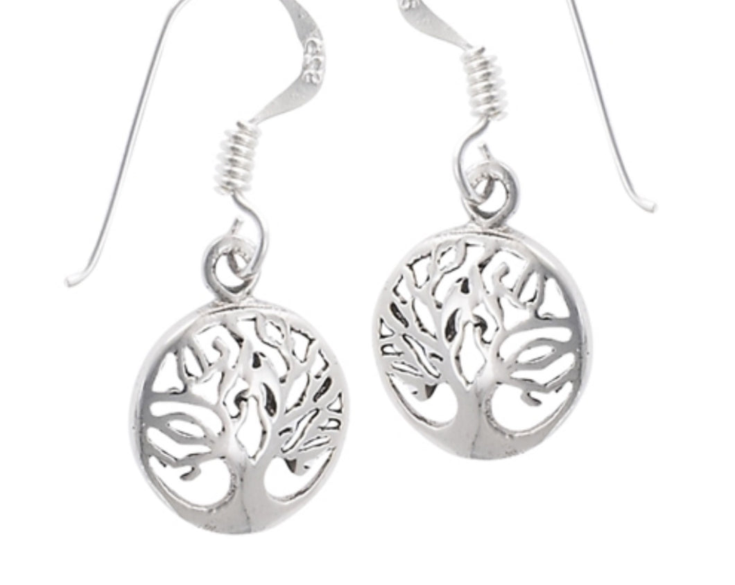 Tree of Life small round Earrigns