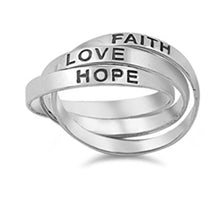 Hope Faith Love Triple Ring